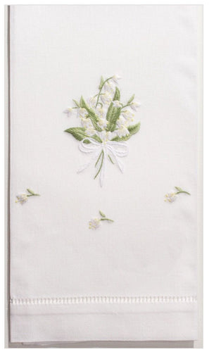 Lily Of The Valley 100% Cotton Guest Hand Towel