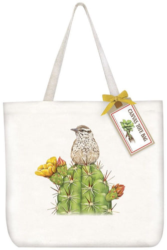 Canvas Tote Bag Mary Lake Thompson Cactus Bird
