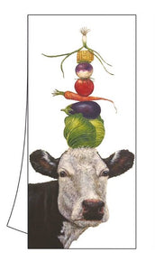 "100% Cotton Kitchen/Bar Cow Towel 18"" x 26"" ""Ida"""