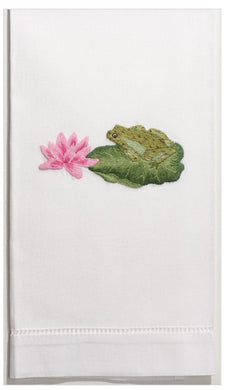 Frog & Lotus 100% Cotton Guest Hand Towel