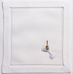 Martini 100% Cotton Set of (4) Cocktail Napkins