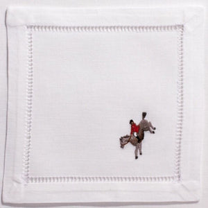 Hunt Scene 100% Cotton Cocktail Napkins Set of 4