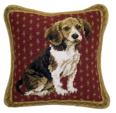Beagle Dog Needlepoint Pillow 10