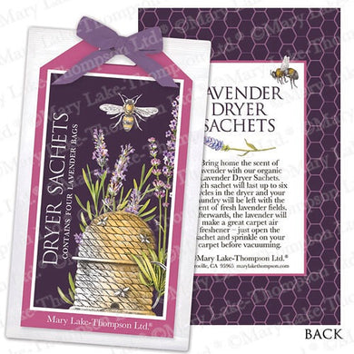 Mary Lake Thompson Organic Botanical Lavender Dryer Sachet Pack of 4