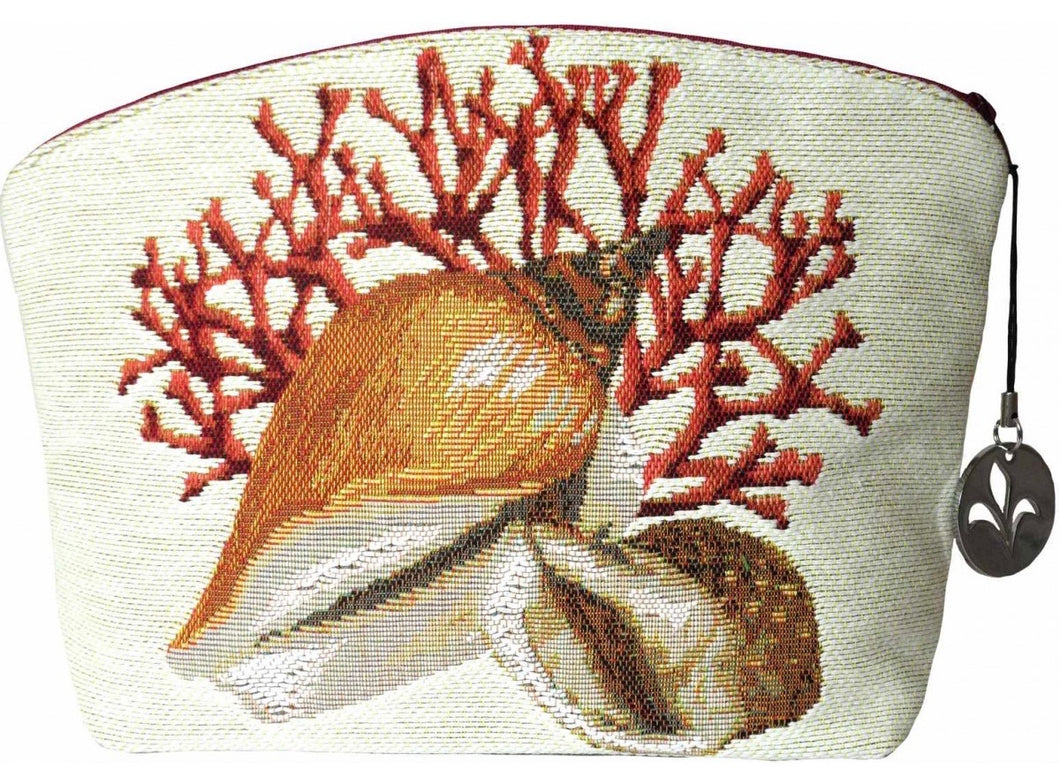 Coral and Seashells Purse