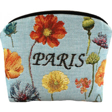 Load image into Gallery viewer, Eiffel Tower and Bright Flowers Purse