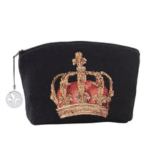 Load image into Gallery viewer, Skull and Crown Tapestry Purse/Jewelry Bag/Cosmetic Bag