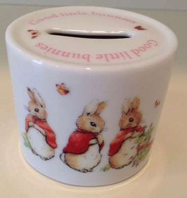 Wedgwood Girls Rabbit Bank/Money Box