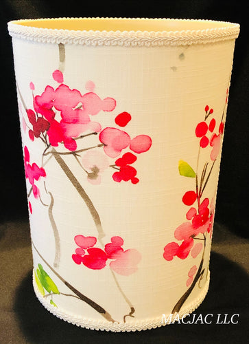 Cherry Blossom Fabric Covered Tissue Box Cover