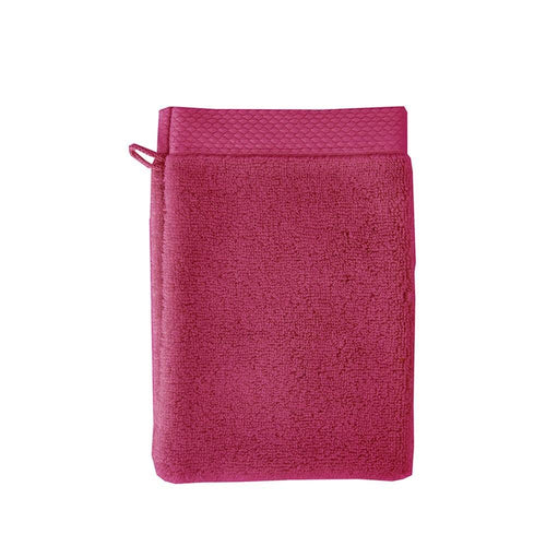 2 Garnier-Thiebaut Gant Wash Mitts Washcloth ELEA FUCHSIA