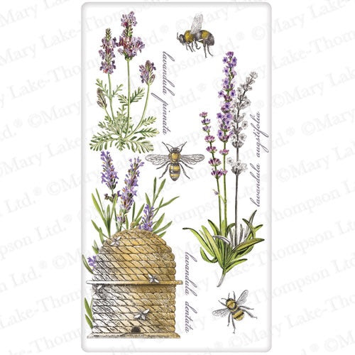 Flour Sack Kitchen Dish Towel Botanical Lavender Mary Lake - Thompson