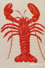 Load image into Gallery viewer, Lobster Fabric Covered Wastebasket