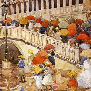 "WarmCaper ""Umbrellas In The Rain"" by Maurice Prendergast"