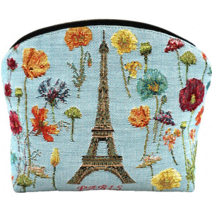 Eiffel Tower and Bright Flowers Purse