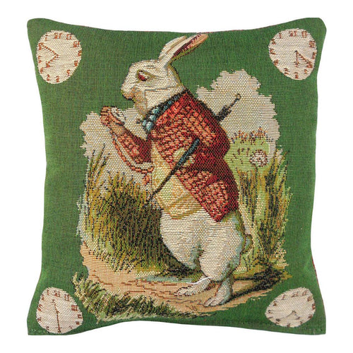 Late Rabbit/Alice in Wonderland Pillow