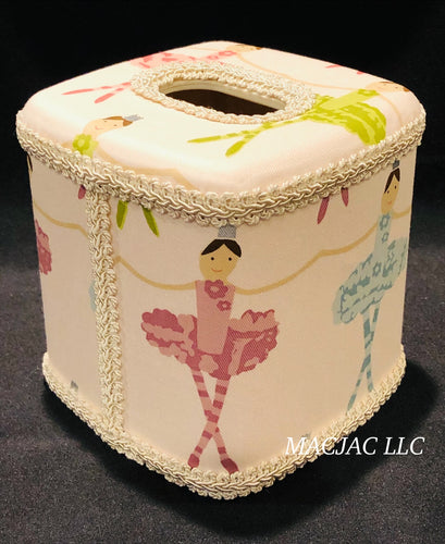 Ballerina/Tutu Fabric Covered Tissue Box Cover