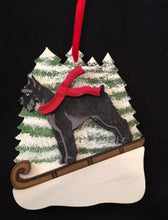 Load image into Gallery viewer, Black Schnauzer Dog Wooden Ornament Made in USA
