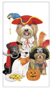 Flour Sack Kitchen Dish Towel Pirate Pets Mary Lake - Thompson