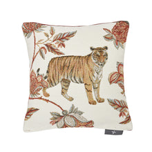 Load image into Gallery viewer, Floral Indian Tiger Pillow