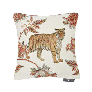 Floral Indian Tiger Pillow