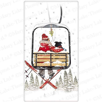 Flour Sack Kitchen Dish Towel Ski Lift Mary Lake - Thompson
