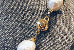 Baroque Pearl Necklace with Moonstones