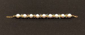 Baroque Pearl Bracelet with Blue Clusters