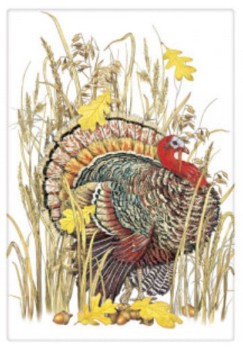 Flour Sack Kitchen Dish Towel Turkey Grass Mary Lake - Thompson