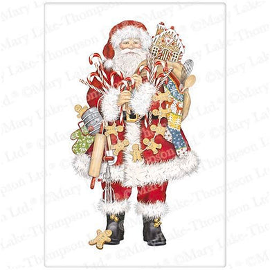 Flour Sack Kitchen Dish Towel Gingerbread Santa Mary Lake - Thompson