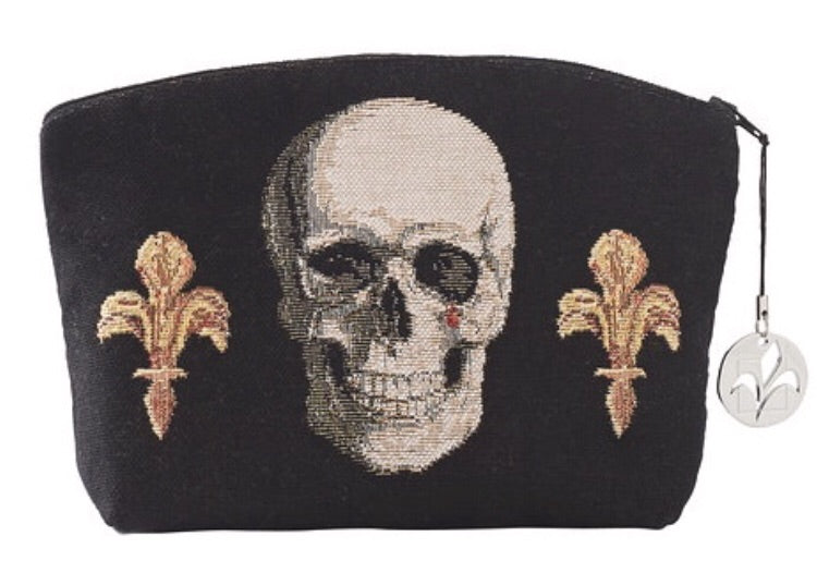 Skull and Crown Tapestry Purse/Jewelry Bag/Cosmetic Bag