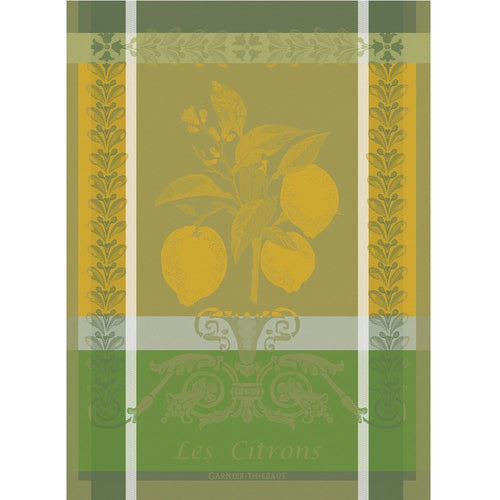 Garnier-Thiebaut French Country Kitchen Dish Towel Citron Zest