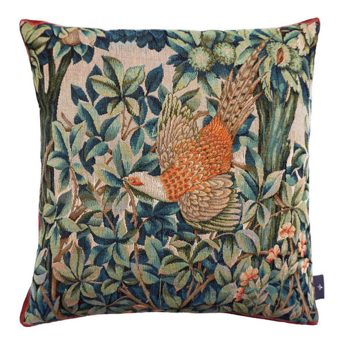 A Pheasant in a Forest Pillow
