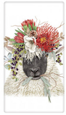 Flour Sack Kitchen Dish Towel Sheep Protea Crown Mary Lake - Thompson