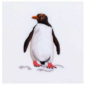 Penguin 100% Cotton Hand Embroidered Guest Hand Towel