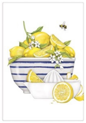 Flour Sack Kitchen Dish Towel Lemon Bowl Mary Lake - Thompson