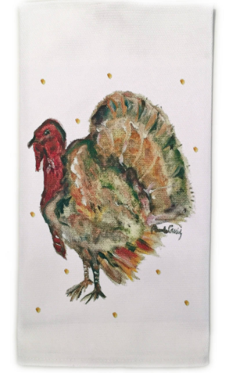"Thanksgiving Cotton Huck Towel 18""x31"""