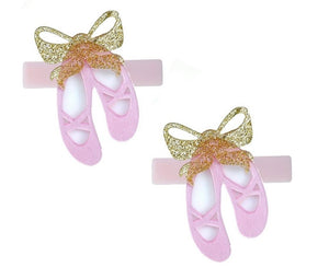 Pink Ballet Slippers Alligator Clips Set
