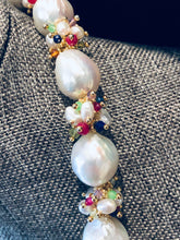Load image into Gallery viewer, Baroque Pearl Necklace with Rainbow Clusters