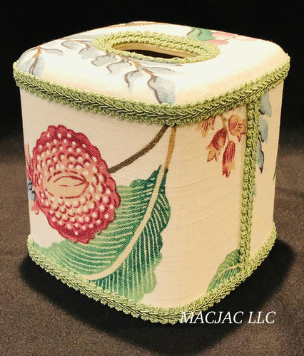 Arboretum Plum Fabric Covered Tissue Box Cover