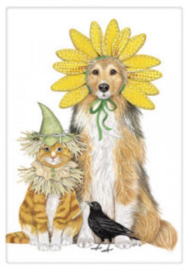 Flour Sack Kitchen Dish Towel Scarecrow Pets Mary Lake - Thompson