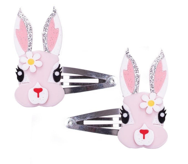 Easter Bunny/Daisy Girls Snap Clips Set New