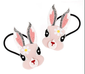 Easter Bunny/Daisy Girls Ponytail Set New