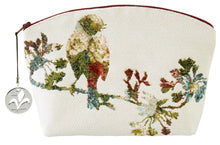 Load image into Gallery viewer, Flowery Birds White Tapestry Purse/Jewelry Bag/Cosmetic Bag