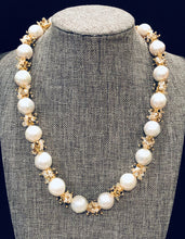 Load image into Gallery viewer, Baroque Pearl Necklace with Moonstones