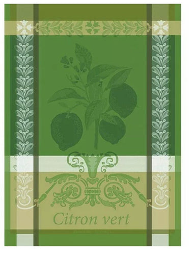 Garnier-Thiebaut French Country Kitchen Dish Towel Citron Vert
