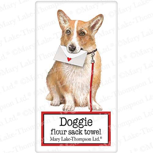 Flour Sack Kitchen Dish Towel Dog Everyday Corgi Mary Lake - Thompson