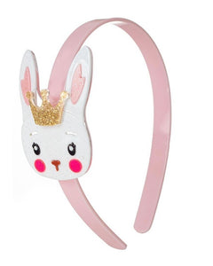 Easter Bunny Rabbit with Crown Pink Headband New