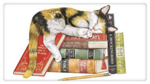 Flour Sack Kitchen Dish Towel Sleepy Cat Books Mary Lake - Thompson