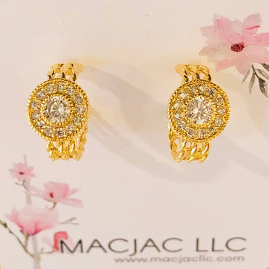 18K Gold Vermeil Pierced Earrings