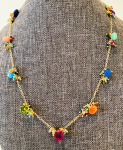 "Rainbow Jelly 17"" Necklace"